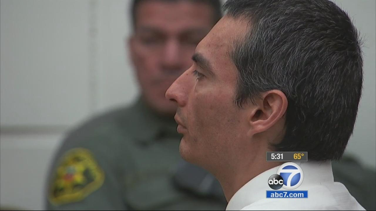 Sam Lopez is shown in court in this February 2015 photo. Lopez was found guilty of murder in the killing of Cal State Fullerton student Cathy Torrez in 1994.