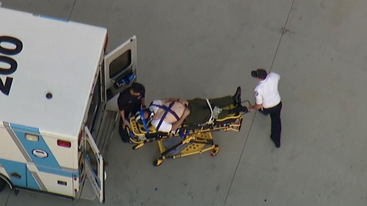A Los Angeles County sheriffs motorcycle deputy was transported to UCI Medical Center in Orange following a crash in Norwalk Tuesday, March 3, 2015.