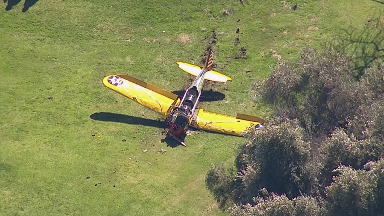 A single-engine plane crashed at the Penmar Golf Course near Santa Monica Municipal Airport on Thursday, March 5, 2015.