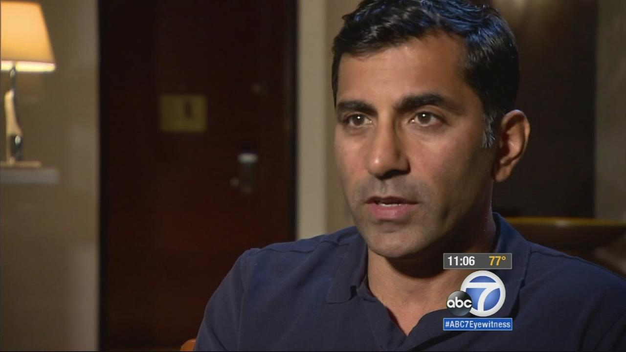 Dr. Sanjay Khurana speaks about helping actor Harrison Ford after he crash-landed a plane on a Venice golf course on Thursday, March 5, 2015.