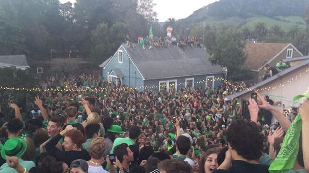 A roof collapsed during a pre-St. Patrick's Day block party in the 300