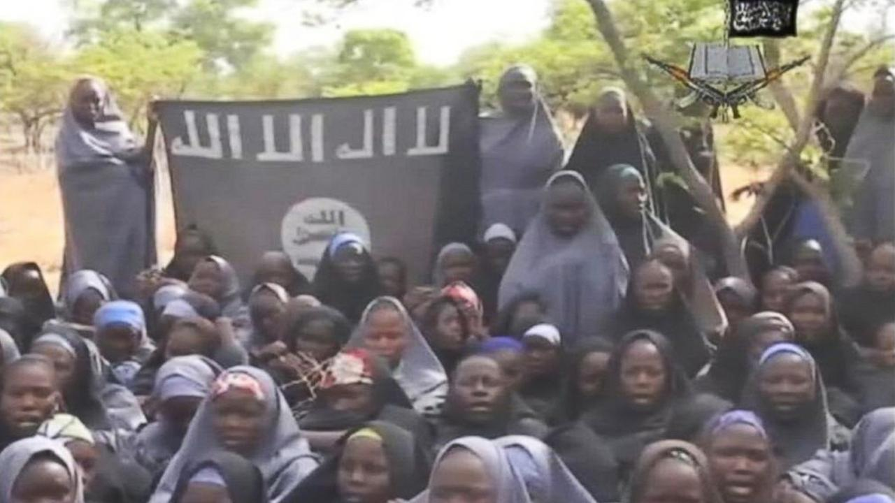 New videos released by Boko Haram purportedly show about 100 of the girls kidnapped from a Nigeria school last month.