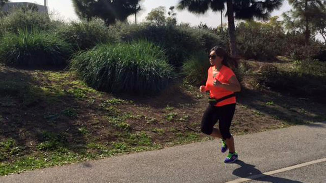 Mayra Suarez goes for a run on Tuesday, March 10, 2015.