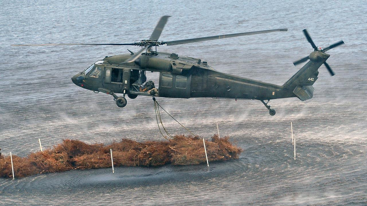 This March 13, 2012 file photo shows a UH-60 Black Hawk helicopter similar to the one that crashed during a night training exercise at Eglin Air Force Base in Florida.