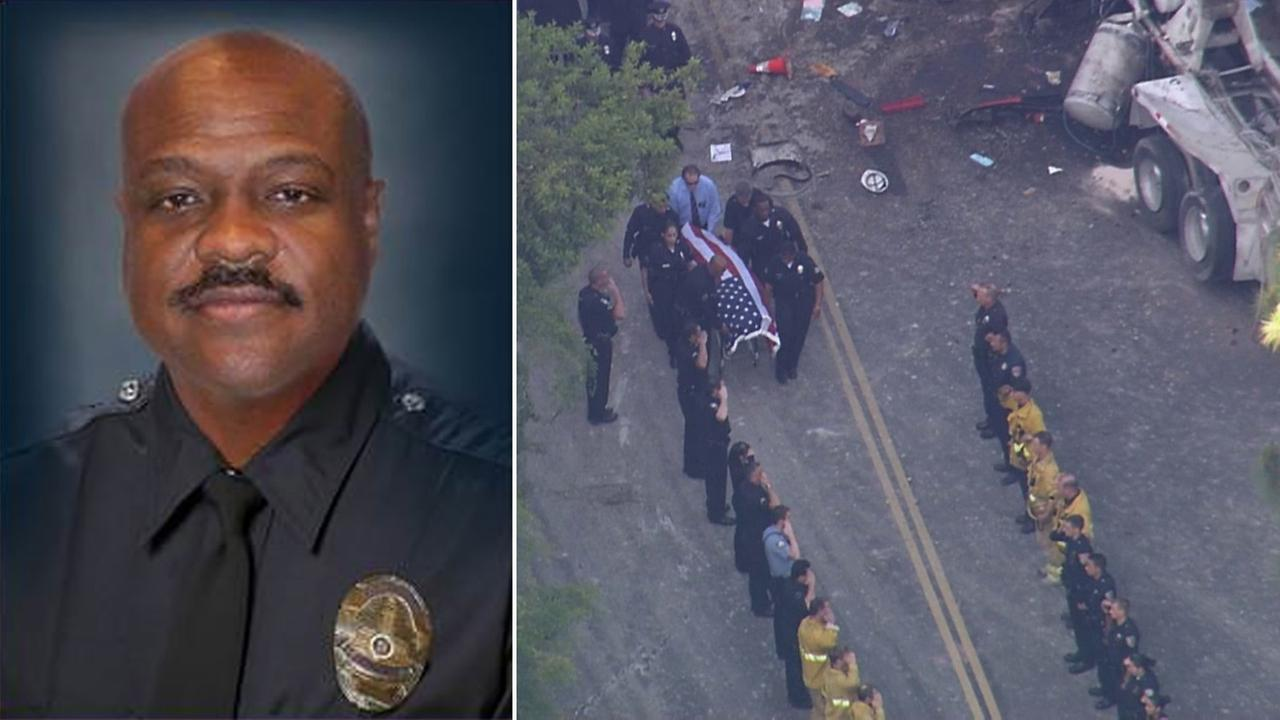 The LAPD detective killed in a cement truck accident on  Loma Vista Drive in Beverly Hills on Friday, May 10, 2014, was identified as Ernest L. Allen Sr.