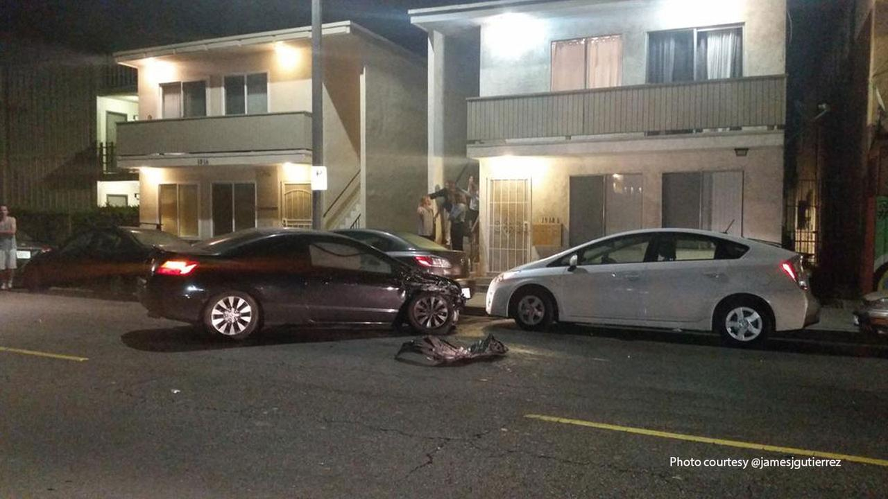 Hit-and-run driver crashes into 9 parked cars in Venice | abc7.com