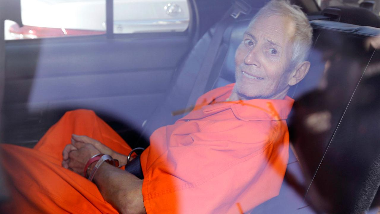 Robert Durst is transported from Orleans Parish Criminal District Court to the Orleans Parish Prison after his arraignment in New Orleans, Tuesday, March 17, 2015.