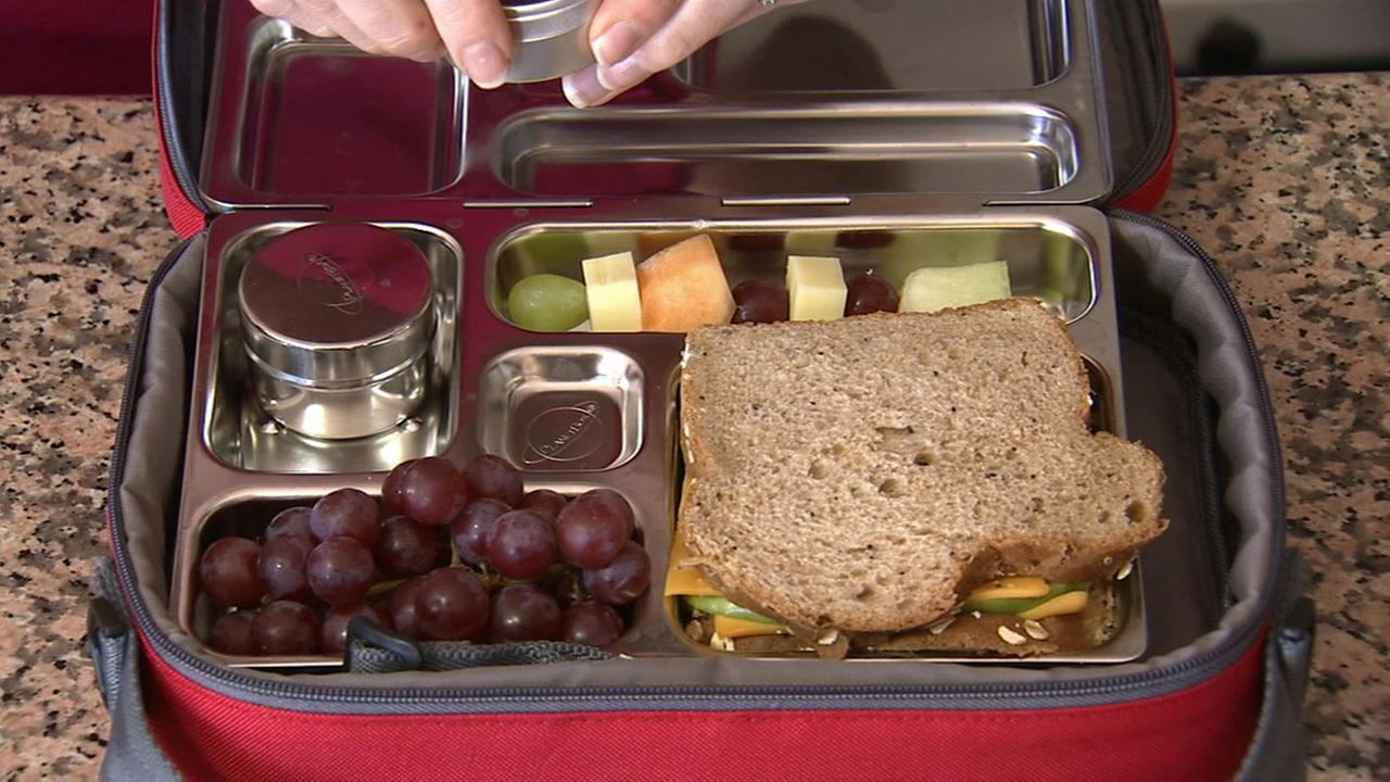 A reusable lunch container from Planet Lunch Box is shown in this undated file photo.