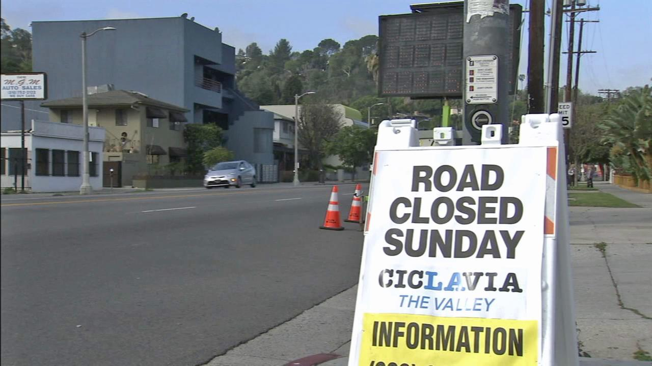 CicLAvias 6-mile route, which goes from North Hollywood to Studio City, will shut down some major roads on Sunday.