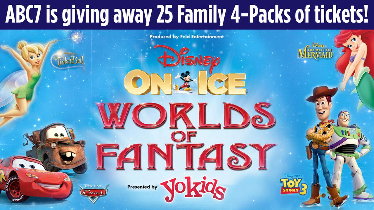 Win a family 4-pack to a Disney On Ice presents Worlds of Fantasy show