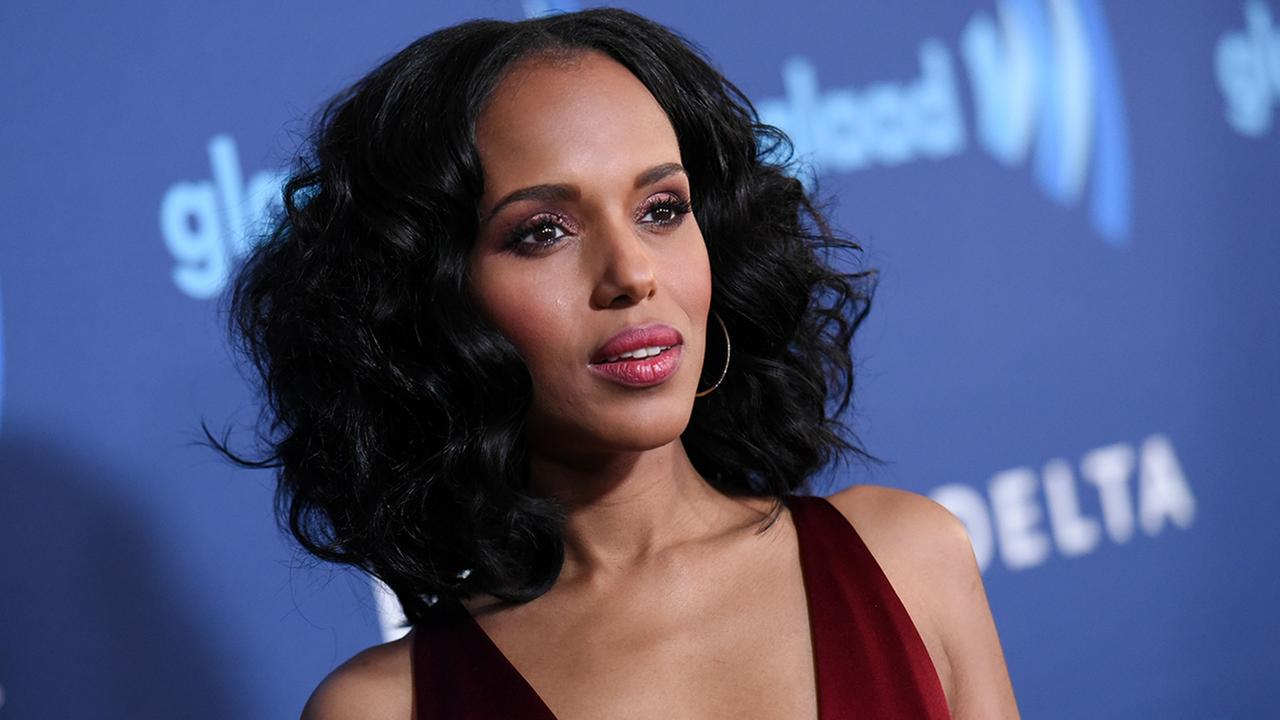 Kerry Washington arrives at the 26th Annual GLAAD Media Awards held at the Beverly Hilton Hotel on Saturday, March 21, 2015, in Beverly Hills, Calif.