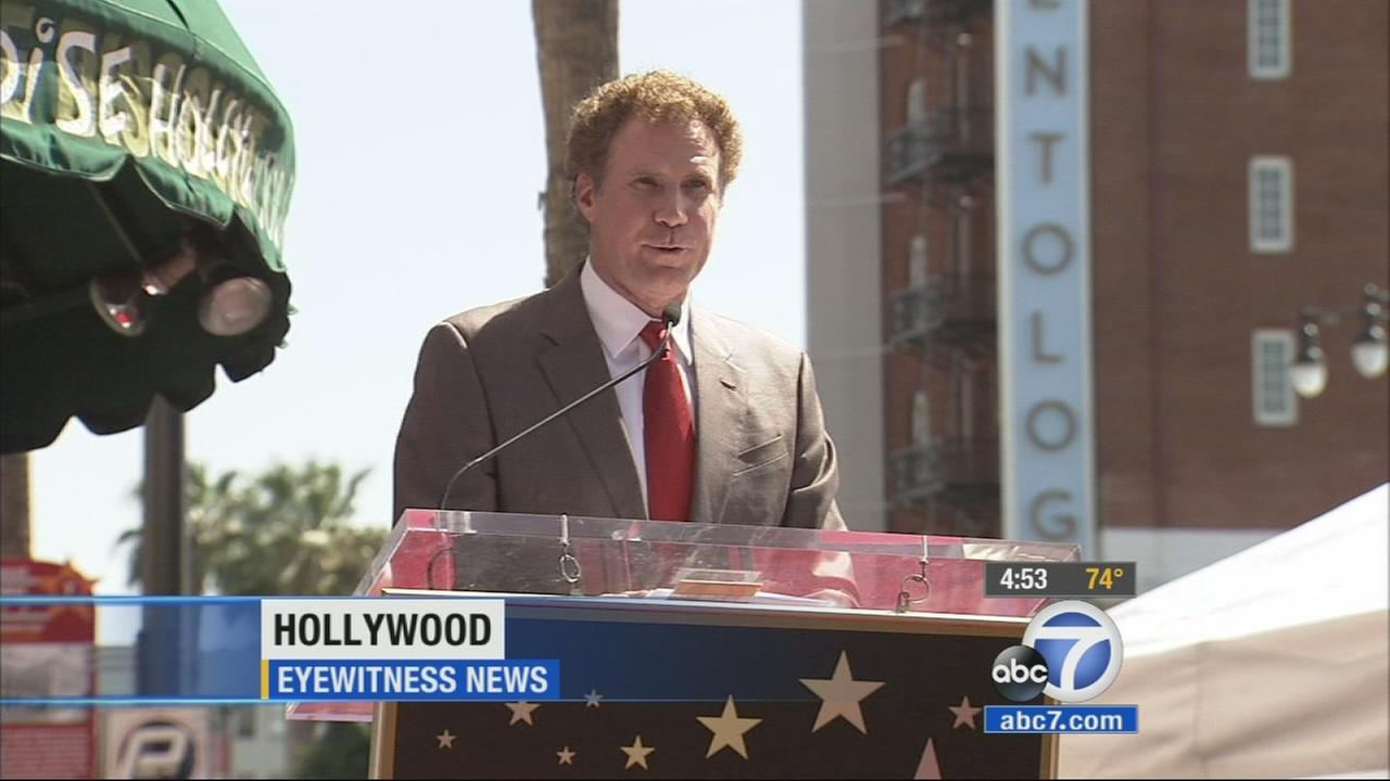 Will Ferrell speaks during his Walk of Fame ceremony in Hollywood on Tuesday, March 24, 2015.