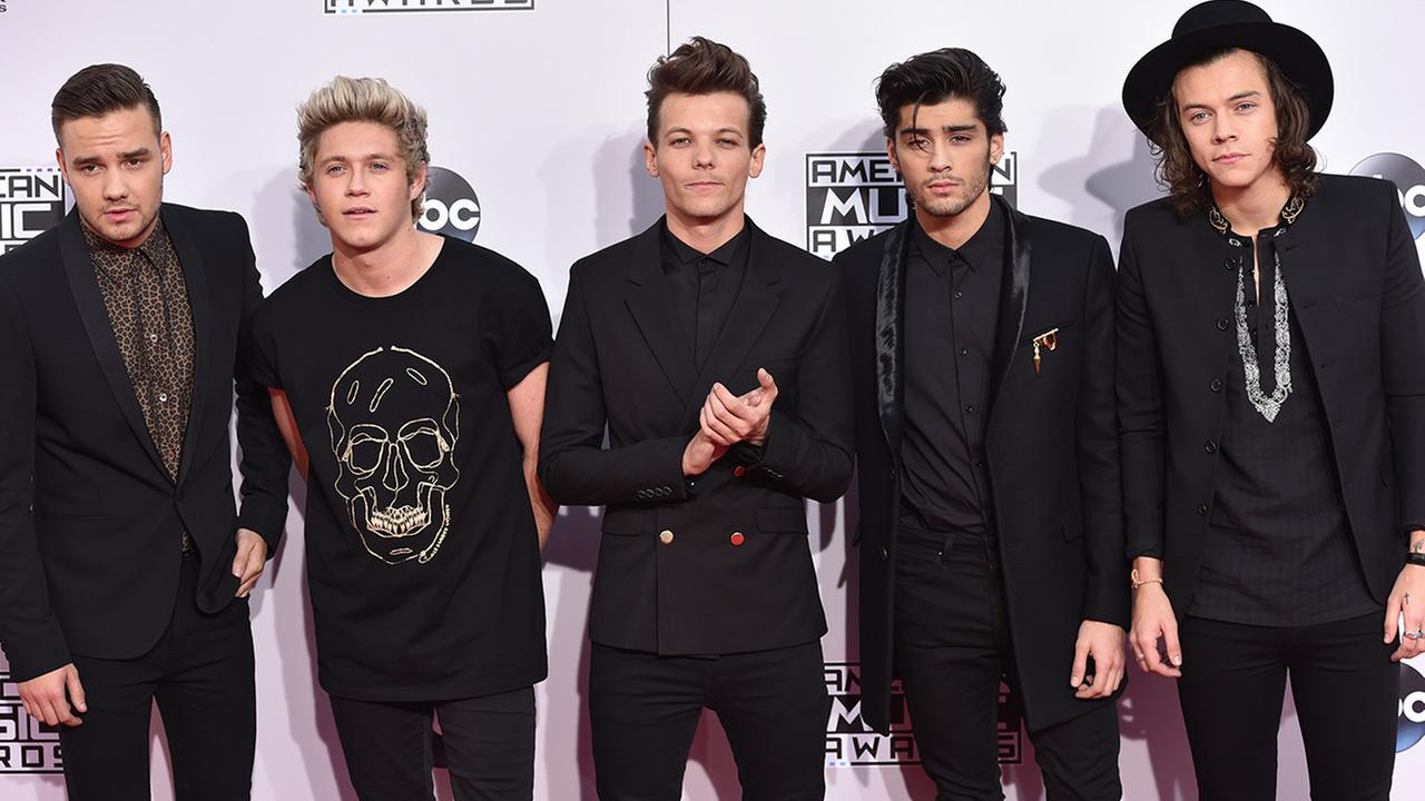 This Nov. 23, 2014 file photo shows Liam Payne, from left, Niall Horan, Louis Tomlinson, Zayn Malik and Harry Styles of the musical group One Direction.
