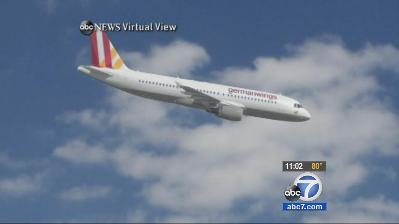 This ABC News animated image depicts Germanwings Flight 9525, which crashed into the French Alps on Tuesday, March 24, 2015.