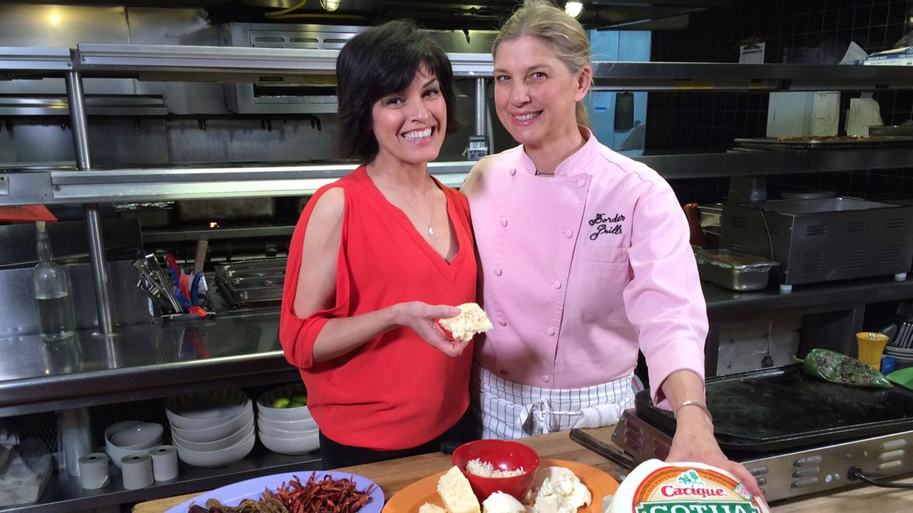 Eye on L.A. host Tina Malave gets some cooking lessons from Mary Sue Milliken, chef and co-owner of Border Grill in downtown Los Angeles.