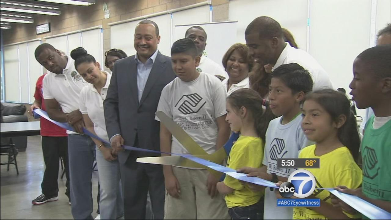 The Chris Paul Family Foundation helped open a newly refurbished Boys and Girls Club in Watts Monday, March 30, 2015.