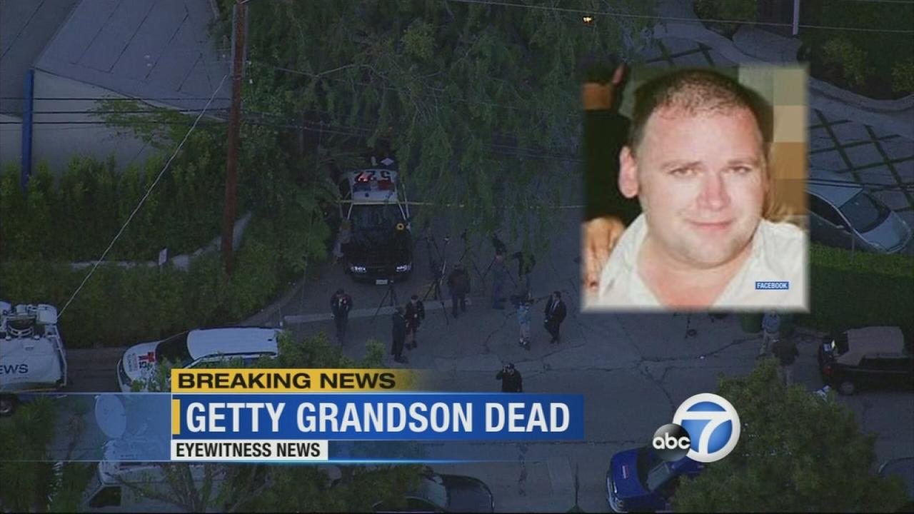 Andrew Getty, grandson of J. Paul Getty, was found dead at his home in the 2900 block of Montcalm Avenue in the Hollywood Hills Tuesday, March 31, 2015.