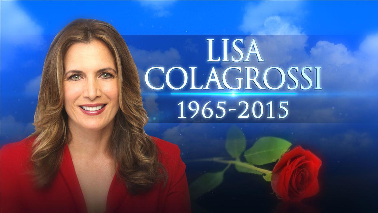 Lisa Colagrossi, a reporter for sister station WABC-TV in New York, died Friday, March 20, 2015. The 49-year-old suffered a brain hemorrhage while returning from covering a story.WABC