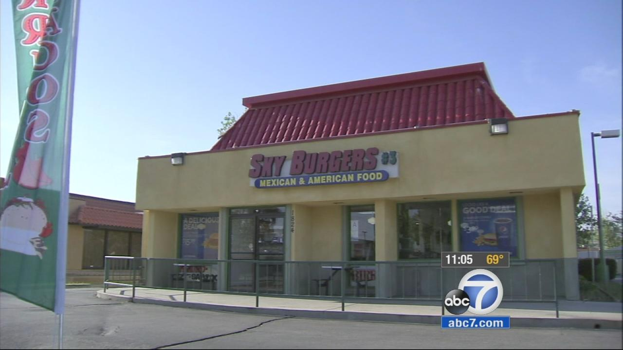 A man was shot and killed outside of the Sky Burgers restaurant in Palmdale on Tuesday, March 31, 2015.