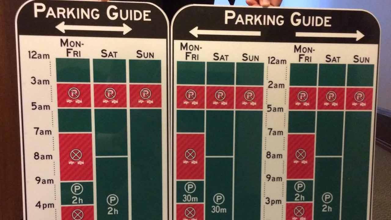 New signs will be unveiled as part of a pilot program to make parking easier in downtown Los Angeles on Friday, April 3, 2015.