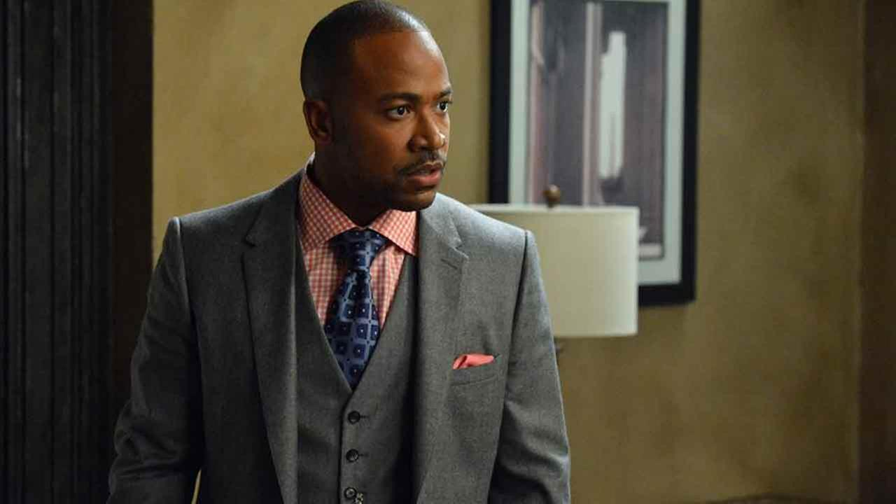 This image released by ABC shows Columbus Short portraying Harrison Wright in a scene from the TV series, Scandal.