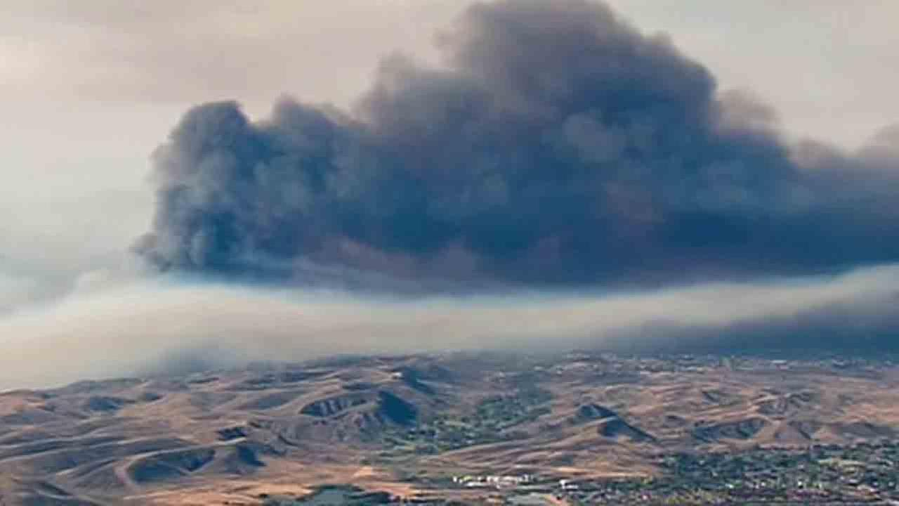 A smoke advisory was issued for the Inland Empire, Orange County and parts of Los Angeles due to the wildfires.