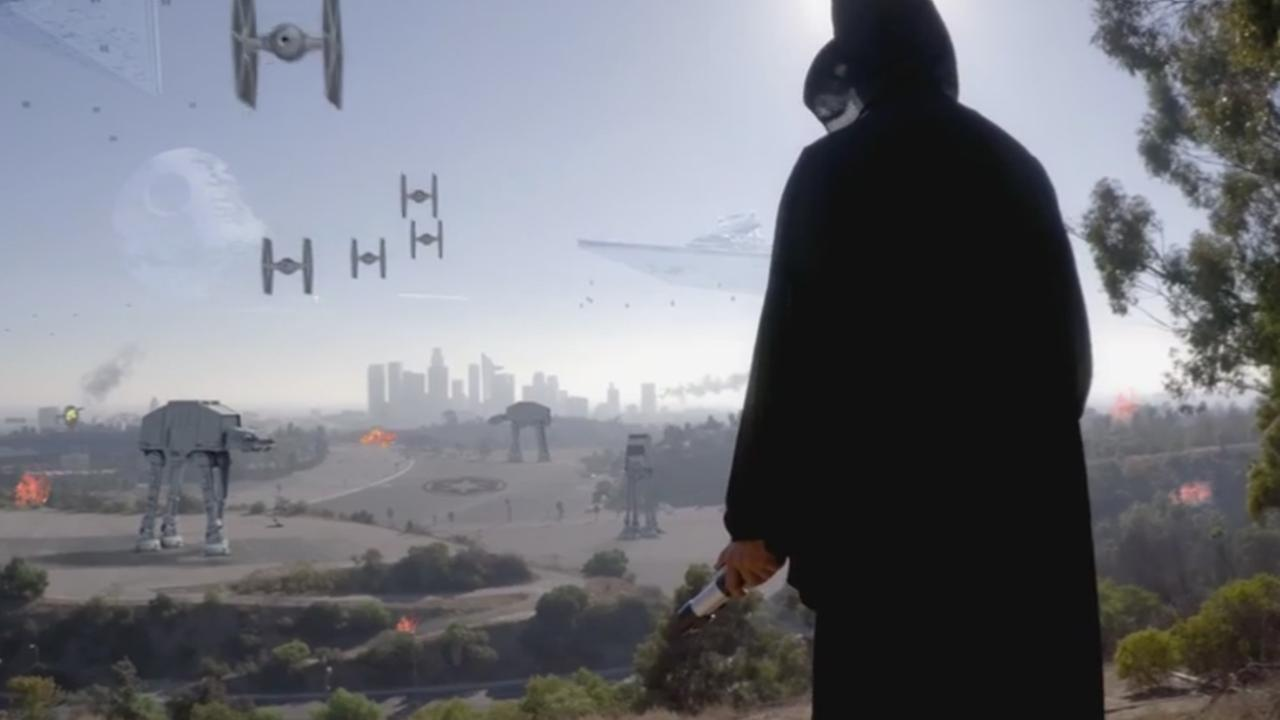 Imperial Forces have invaded Los Angeles in Kaipo Jones latest video.