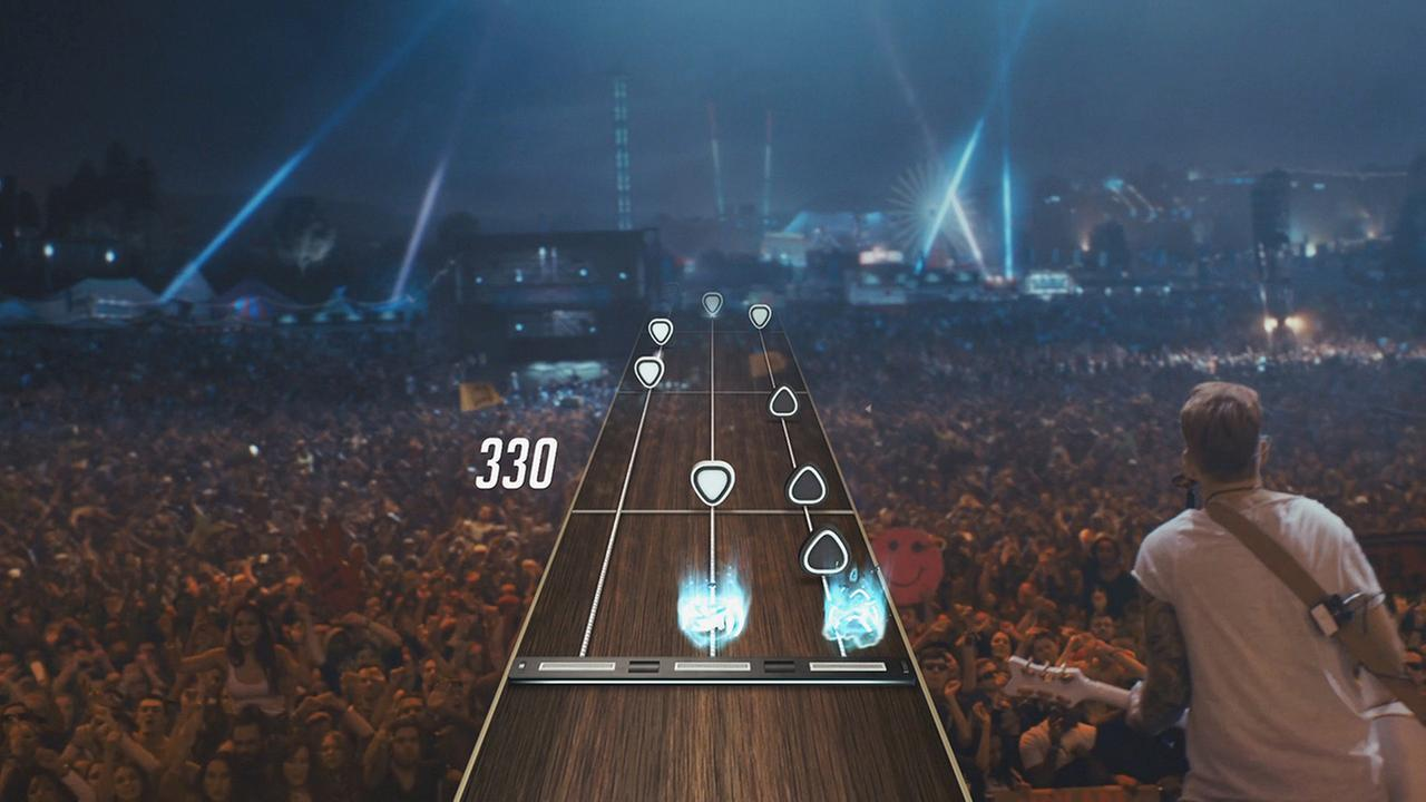 This photo provided by Activision Publishing, Inc. shows an in-game screenshot from Guitar Hero Live from Activision Publishing, Inc.