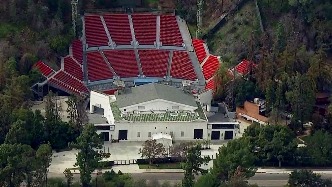 The iconic Greek Theatre is seen in this photo provided by AIR7-HD.