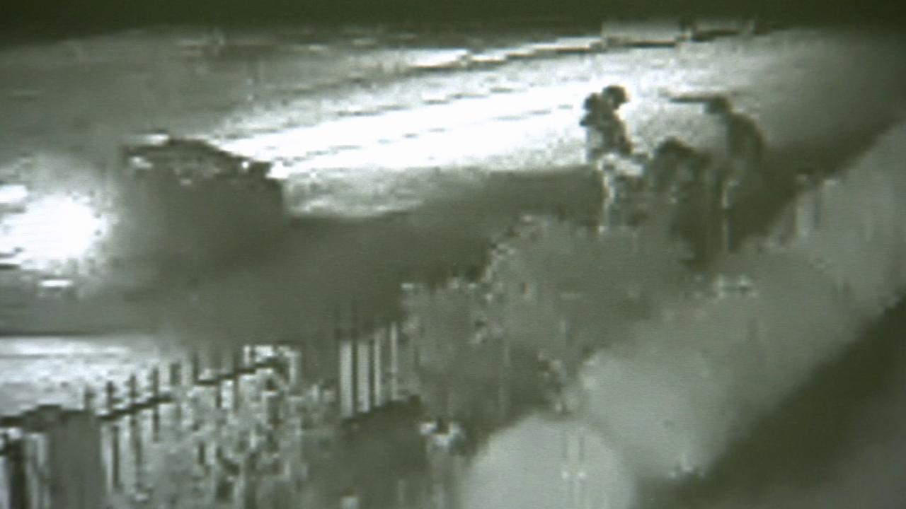 Surveillance video catches multiple suspects beating and stabbing a man in El Monte on April 6, 2015.