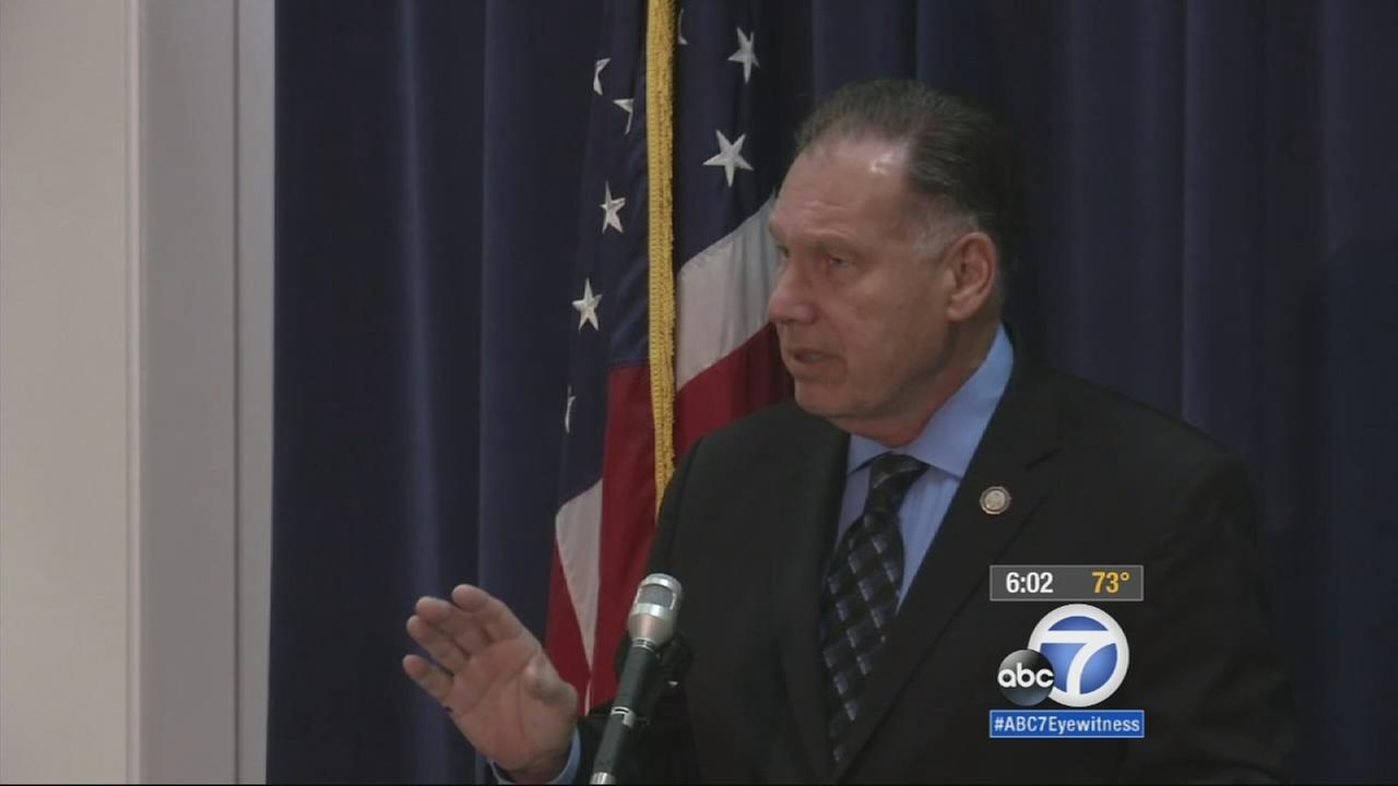 Orange County District Attorney Tony Rackauckas holds a news conference about appealing a judges controversial sentencing decision on Thursday, April 16, 2015.