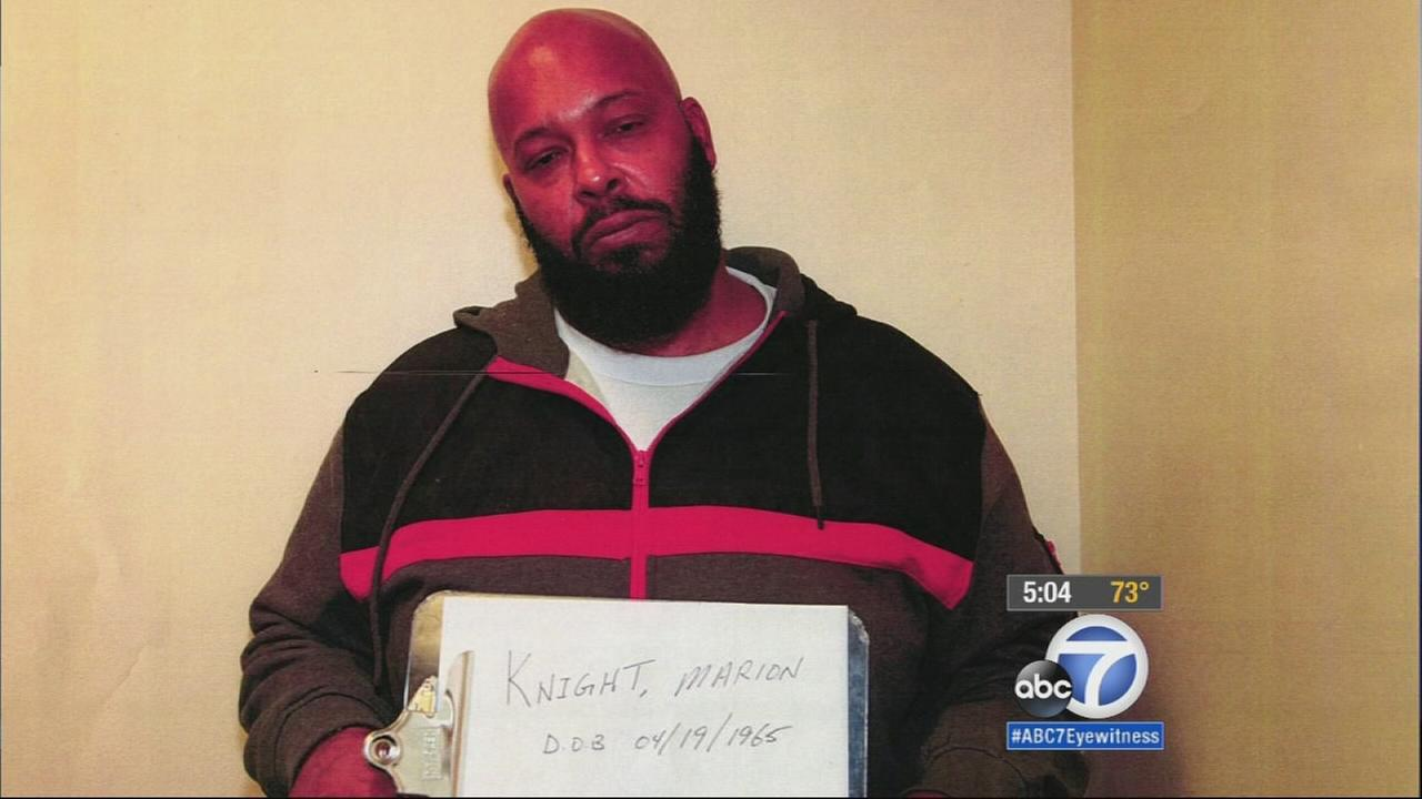 A Los Angeles court has released the video of Suge Knight plowing into two men with his pickup truck in the murder case against the former rap mogul.