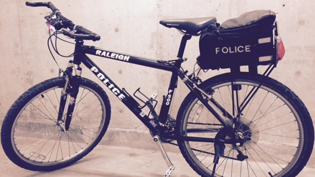 An Alhambra police bicycle that was briefly stolen is shown in this undated file photo.