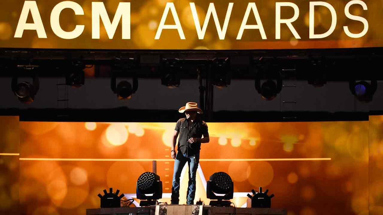 Jason Aldean performs at the 50th annual Academy of Country Music Awards at AT&T Stadium on Sunday, April 19, 2015, in Arlington, Texas.