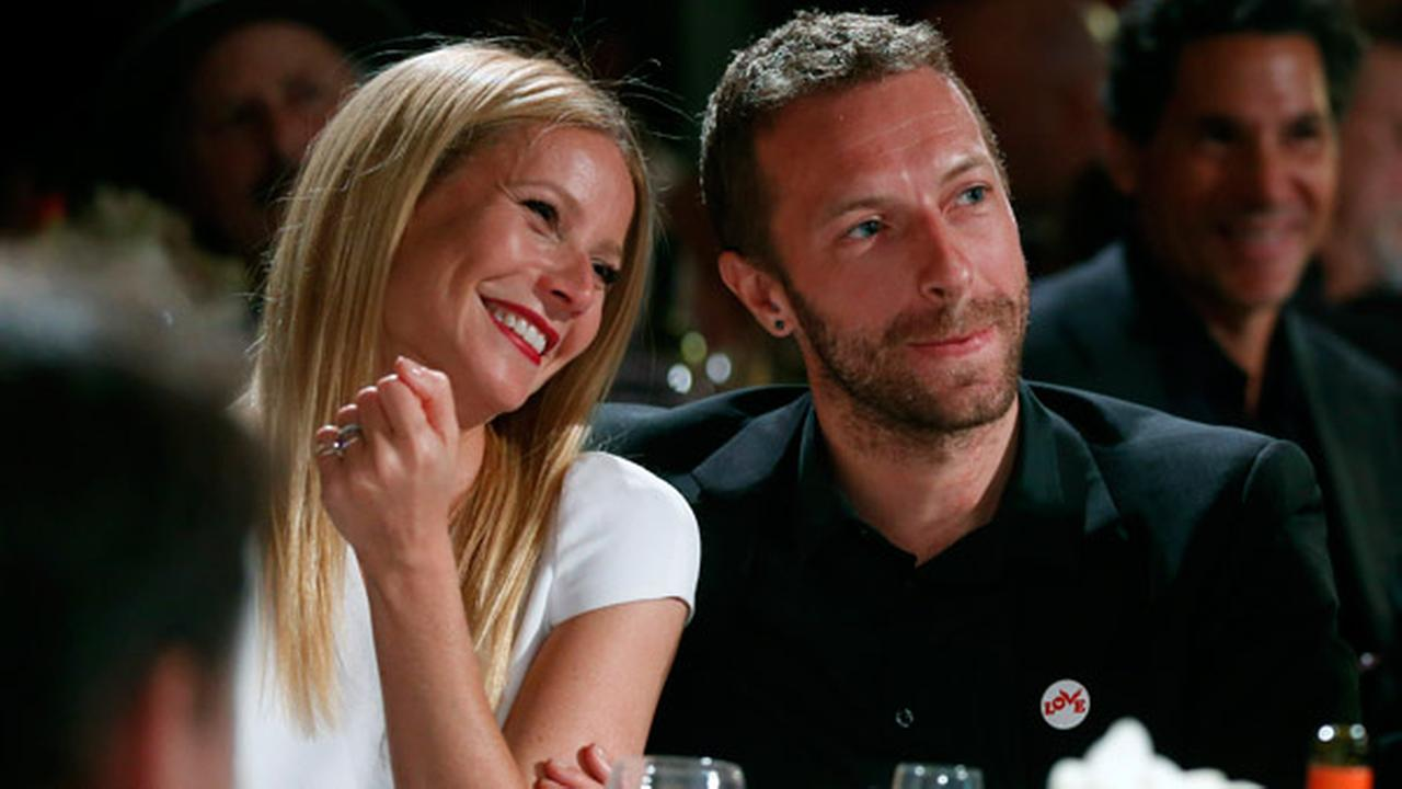 Gwyneth Paltrow, left, and Chris Martin are seen at the 3rd Annual Sean Penn and Friends HELP HAITI HOME Gala on Saturday, Jan. 11, 2014 at the Montage Hotel in Beverly Hills, Calif.