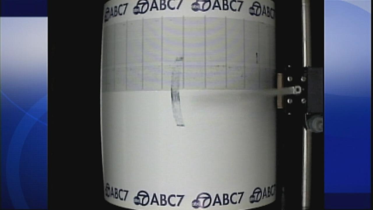 ABC7s Quake Cam captures a 3.9-magnitude earthquake near Baldwin Hills on Sunday, May 3, 2015.