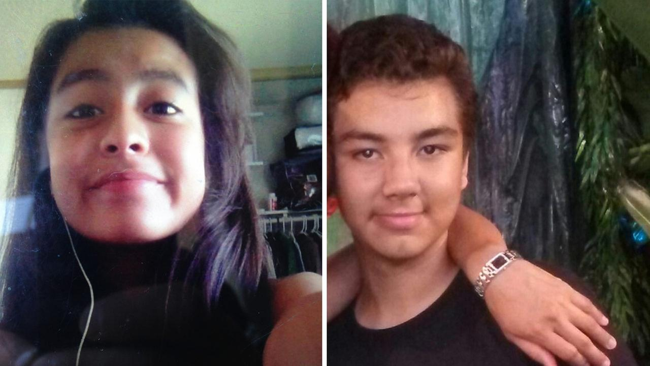 Ashley Montes, 12, and Timothy Jacob Reed, 14, are shown above in undated photos.