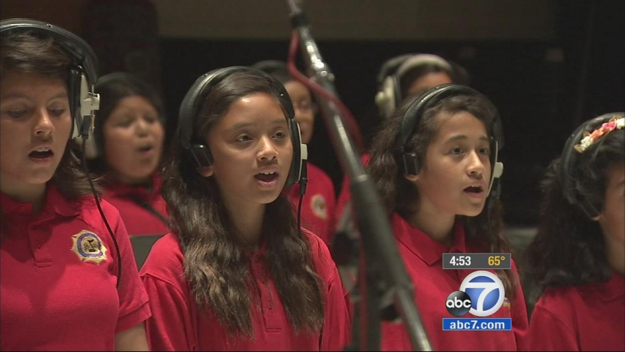 Following in the footsteps of the Beatles and other famous groups, fifth graders from Noble Avenue Elementary School in North Hills got a shot at singing inside one of the worlds most iconic recording studios, Capitol Records.