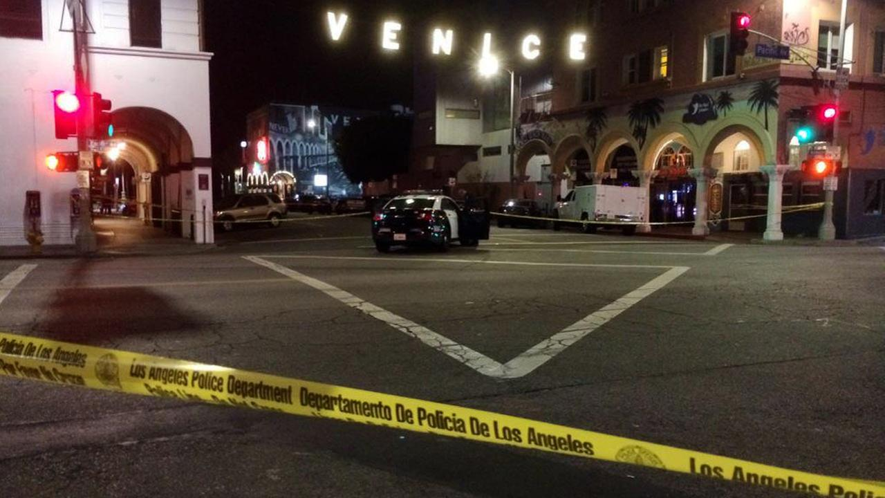 Crime tape ropes off the scene of a fatal officer-involved shooting in Venice on Wednesday, May 6, 2015.