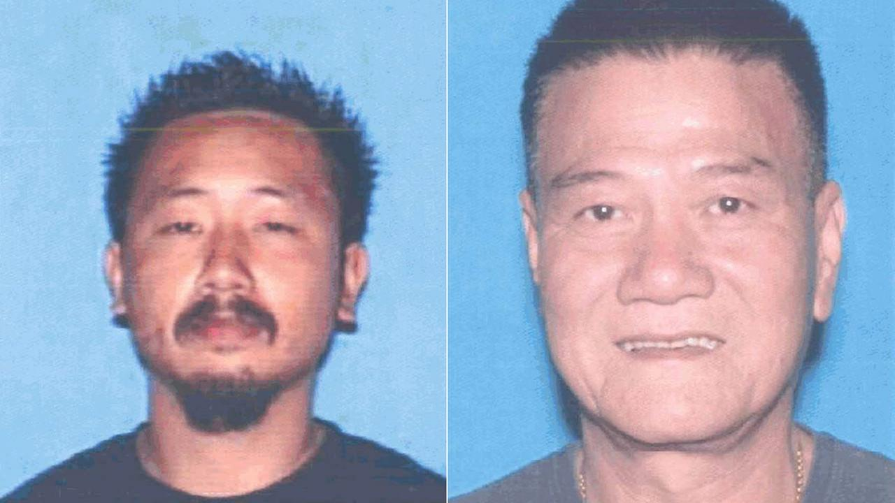 (L) Thong Kien Ma, a suspect killed by sheriffs deputies in South El Monte, is seen in this DMV photo. (R) Chau Da Ngo is seen in this DMV photo.