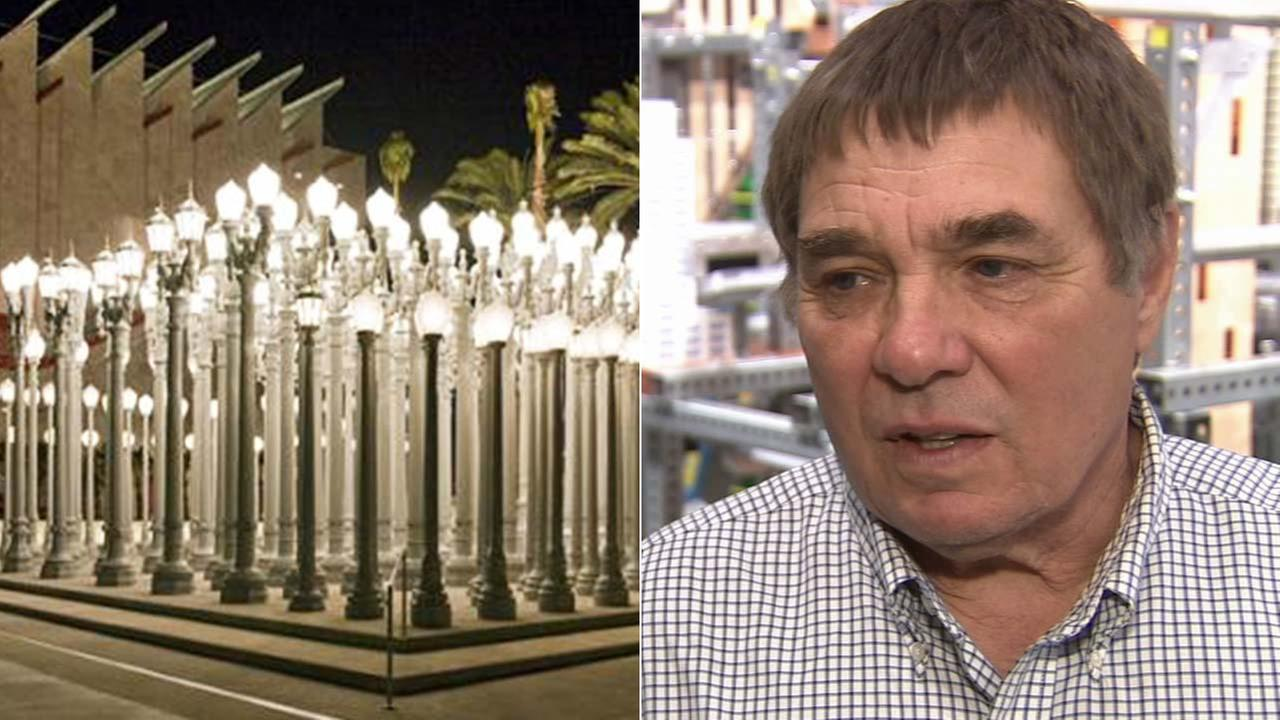 Chris Burden, the artist who created the famous Urban Light display outside the Los Angeles County Museum of Art, died Sunday, May 10, 2015.KABC