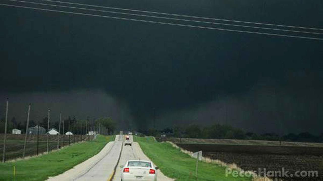 A weather photographer captured this photo of one of the tornadoes in Lake City, Iowa.