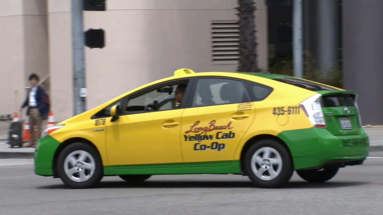 A Long Beach Yellow Cab taxi is seen in this undated file photo.