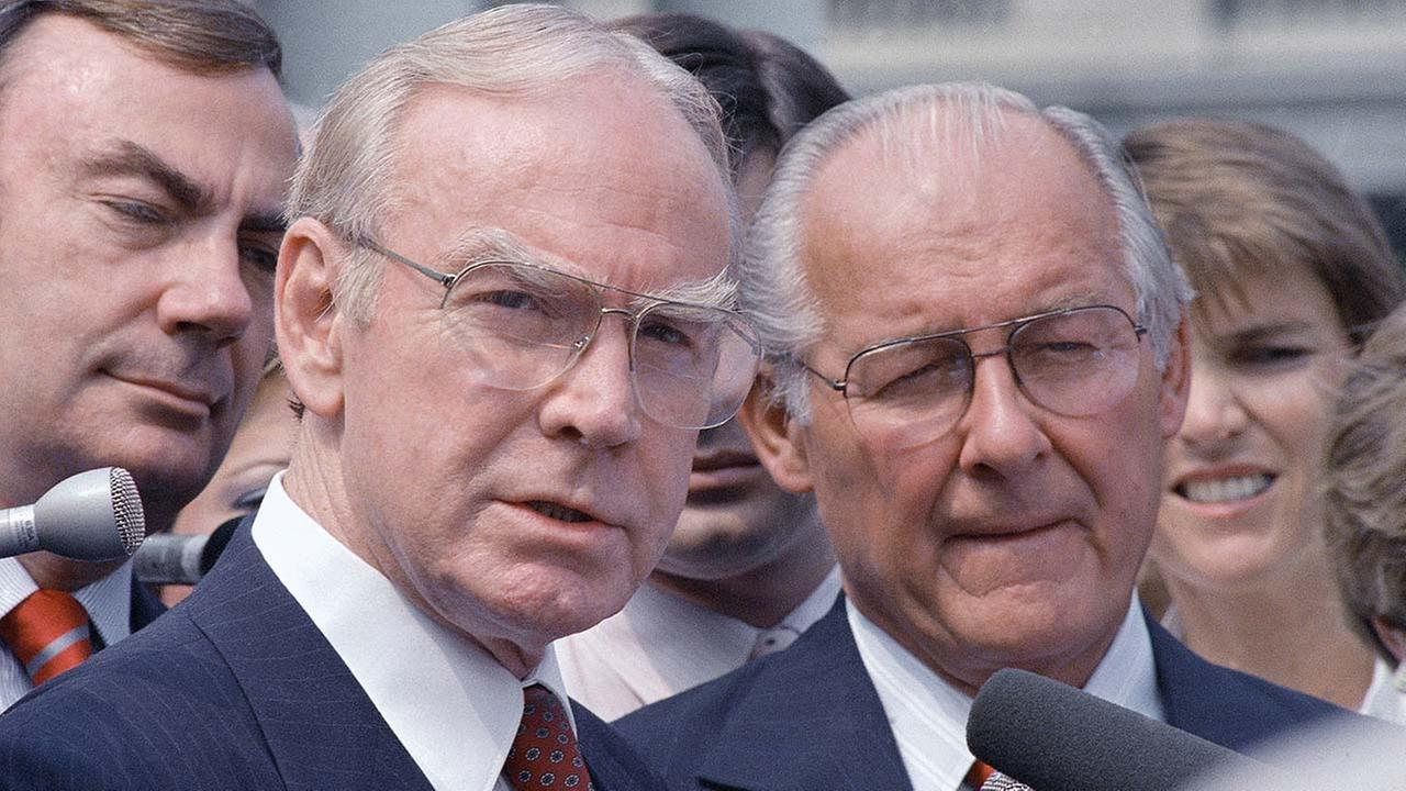 Jim Wright, a veteran Texas congressman who was the first House speaker in history to driven out of office in midterm, died Wednesday, May 6, 2015. He was 92.AP Photo/Barry Thumma
