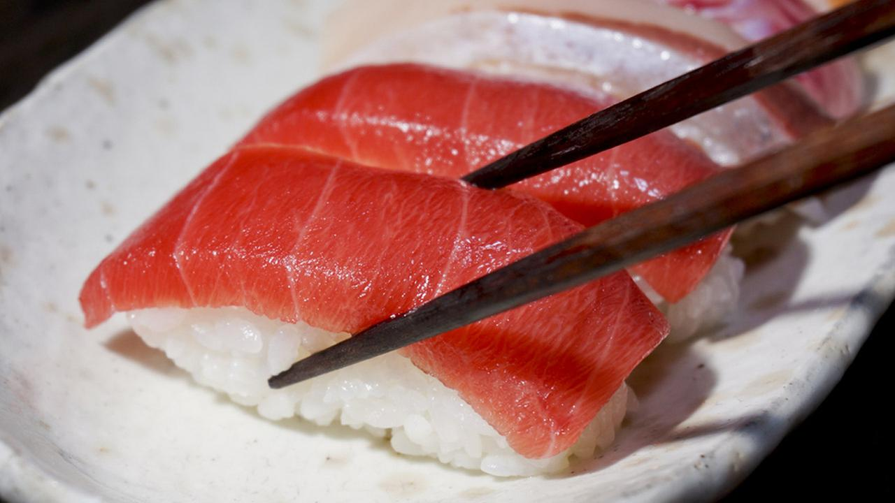 A tuna sushi is shown above in an undated photo.