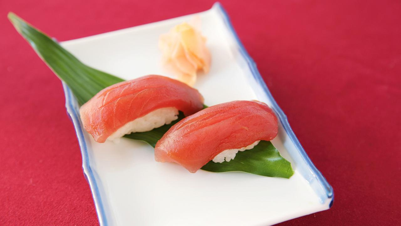Tuna sushi is shown above in an undated photo.