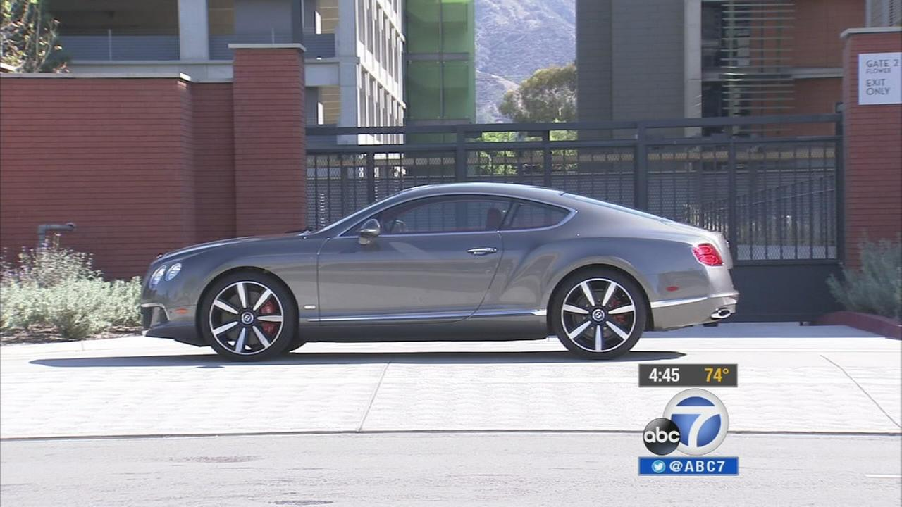 The Bentley Continental GT Speed Le Mans Edition is seen.
