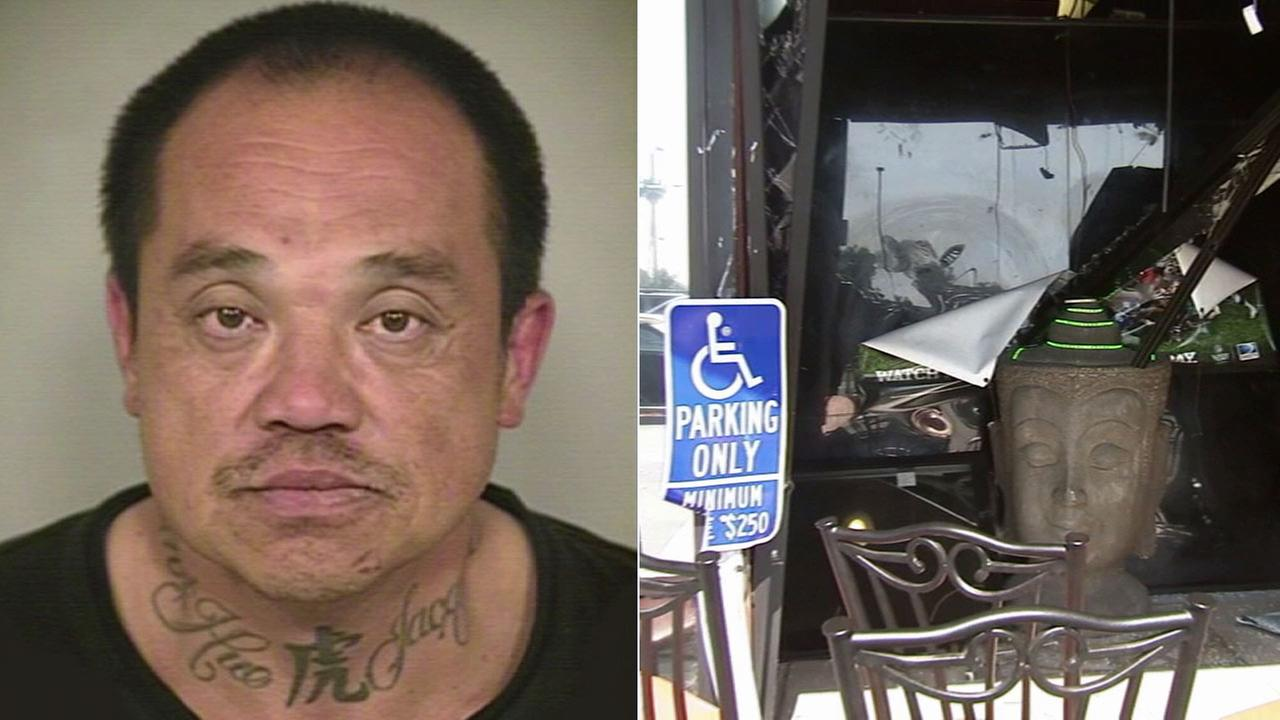 Tuan Anh Truong, 48, of Santa Ana, allegedly slammed into three Orange County businesses and one home while leading police on a pursuit on Wednesday, May 27, 2015.