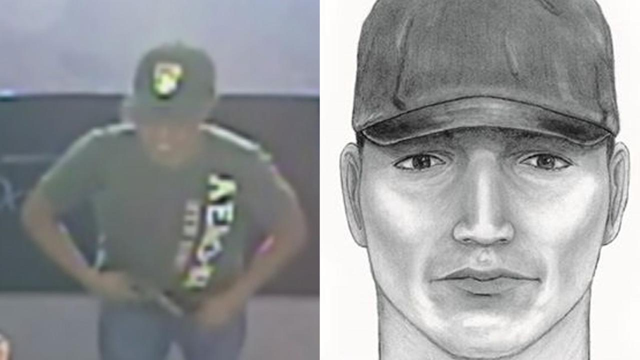 A surveillance image and a composite sketch shows the serial robber dubbed the Band-Aid Bandit, linked to at least 11 robberies in L.A. County.