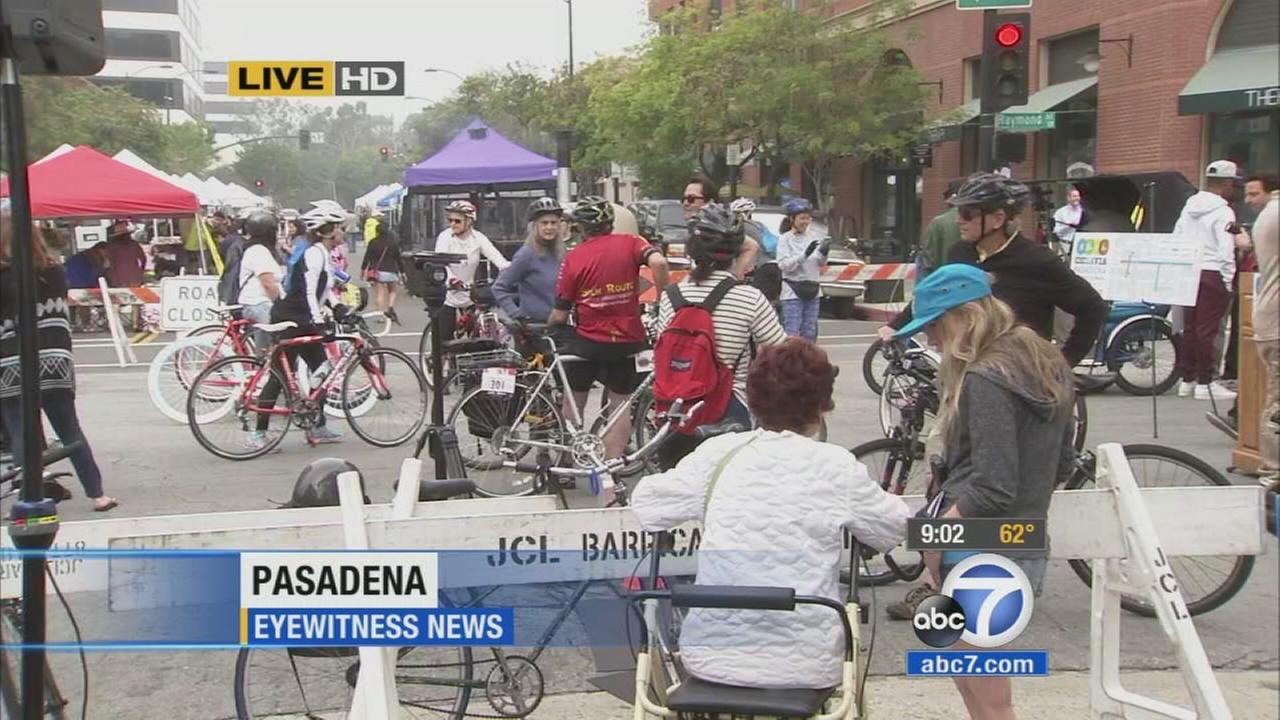 Thousands of bicyclists, skateboarders, roller skaters and pedestrians are expected to hit the streets of Pasadena Sunday, May 31, 2015 for the citys first ever CicLAvia event.